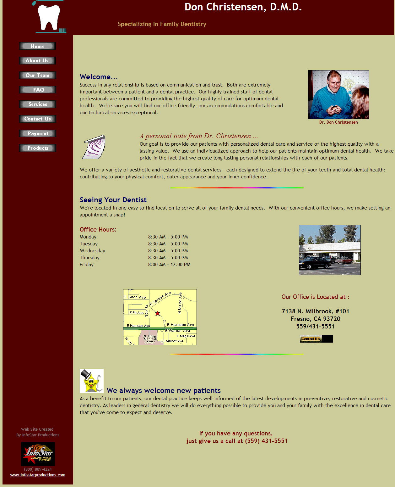 Dr. Christensen's Old Website ...